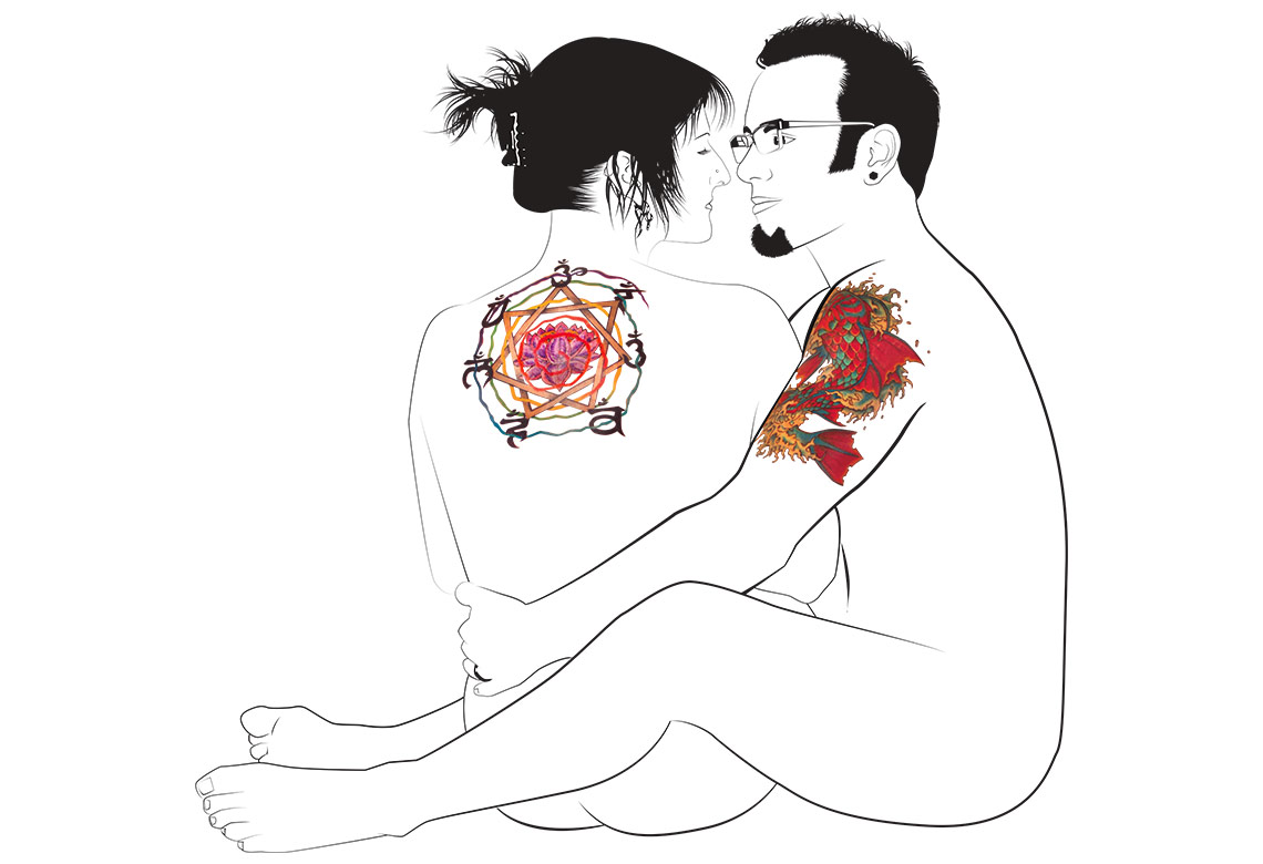 Shar and Ryan Vector Tattoo Illustration